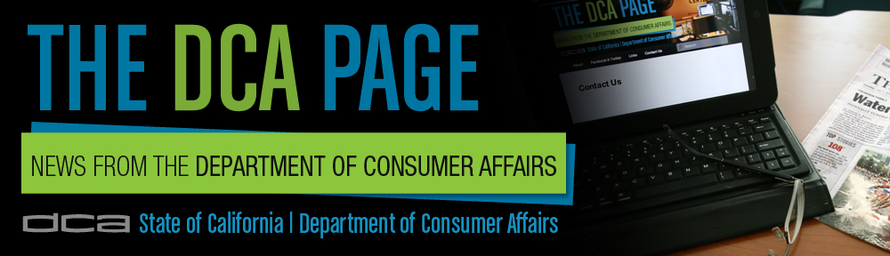 The dca page state of california department of - Office of the consumer protection board ...